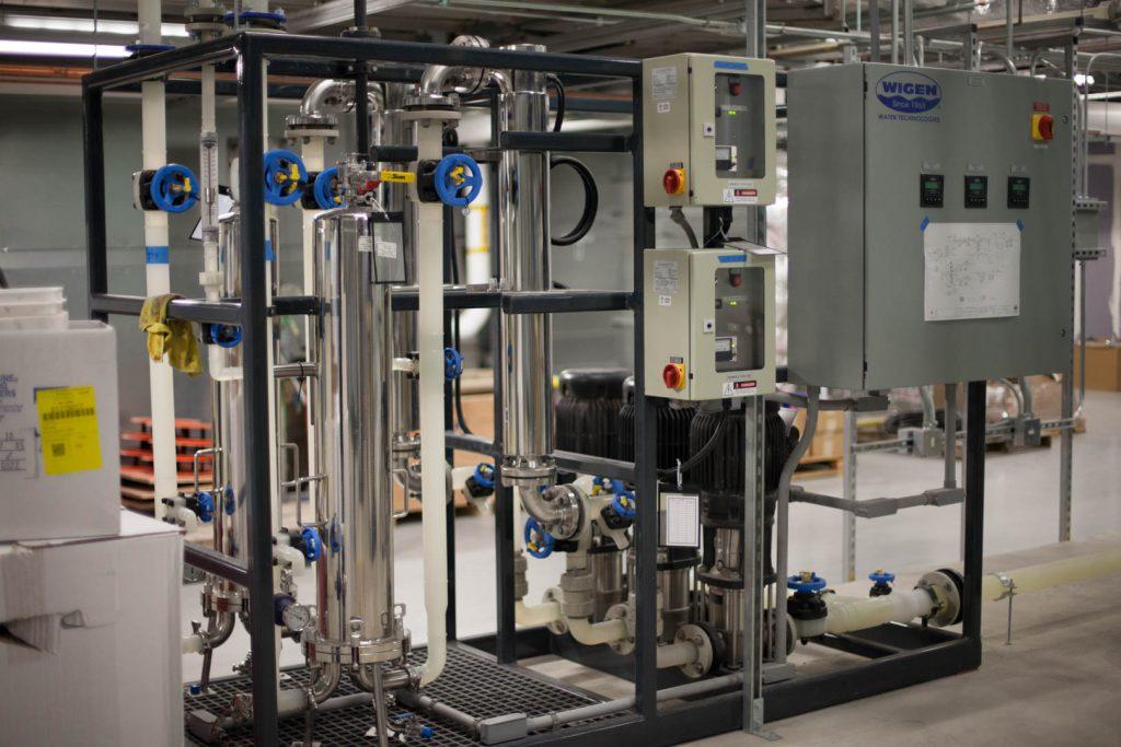 HVAC system in mechanical room