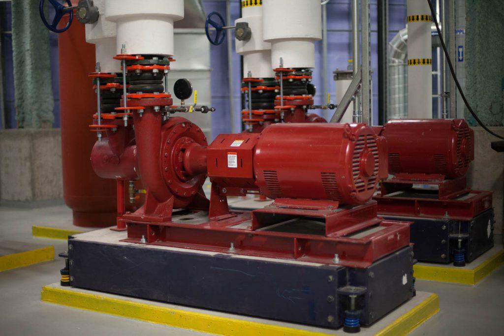 mechanical room HVAC system