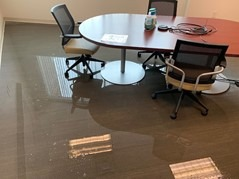water leak unoccupied building